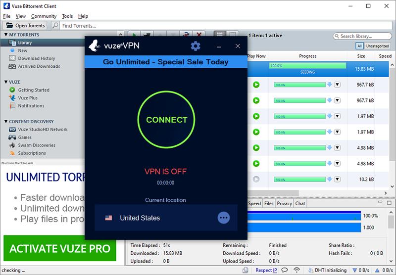 VPN for VUZE torrent, best VPN for Windows 2021